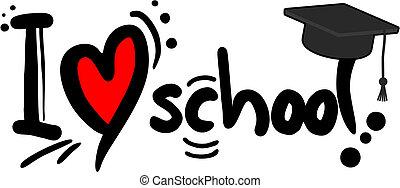 escuela, amor
