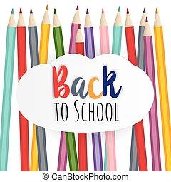 escuela, bienvenida, espalda