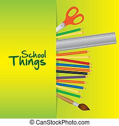 escuela, cosas