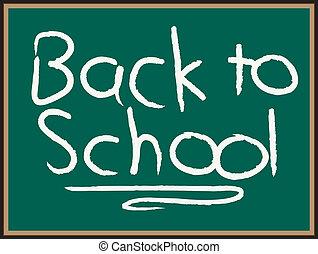 escuela, espalda