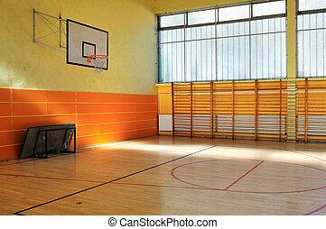 escuela, gimnasio