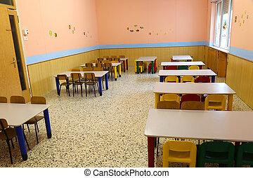 escuela, interrupción, almuerzo, refectorio, cantimplora, ...