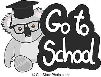 escuela, koala