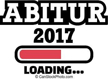 escuela, loading., graduación, alto, abitur, 2017