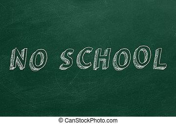 escuela, no
