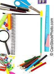escuela, objetos