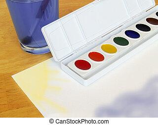 escuela, pintura