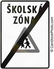 escuela, utilizado, zona del final, medios, -, skolska,...
