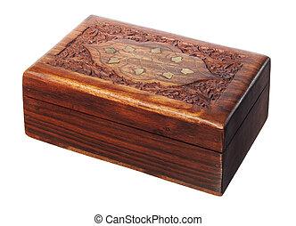 esculpa, madeira, caixa