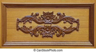 esculpido, madeira