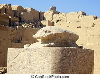escultura antiga, templos, scarabus, egípcio