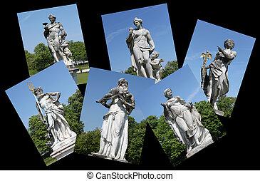 escultura, estatuas