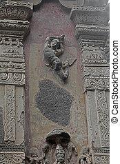 escultura, exterior, santuário, superior, principal, voando, terraço