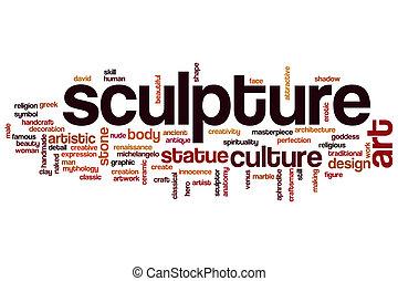 escultura, palabra, nube