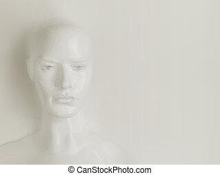 escultura, yeso, mujer, -, obra maestra