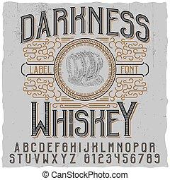 escuridão, uísque, cartaz
