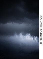 escuro, abstratos, céu, tempestuoso, fundo