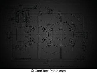 escuro, abstratos, engenharia, desenho