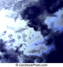 escuro, abstratos, nuvens, abertura
