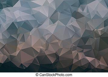 escuro, abstratos, polígono, fundo