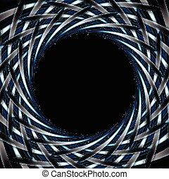 escuro azul, abstratos, fundo