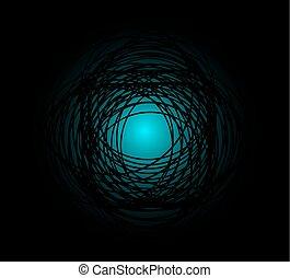 escuro azul, círculo, fundo
