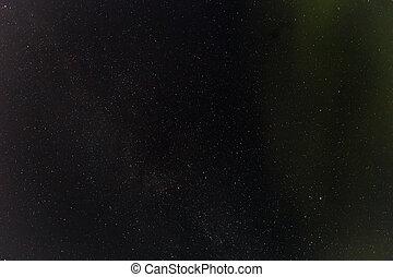 escuro, céu noite, com, stars.