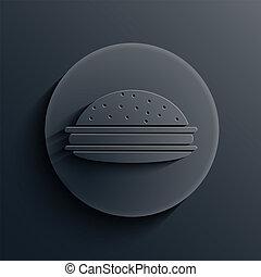 escuro, círculo, vetorial, eps10, icon.