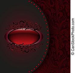 escuro, cartão vermelho