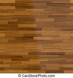 escuro, chão madeira, fundo, parquet