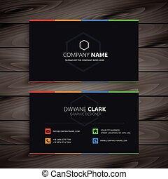 escuro, companhia, cartão negócio