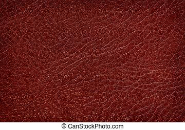 escuro, couro, antigas, vermelho, textura