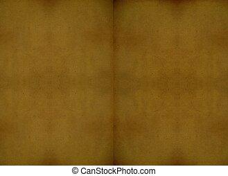 escuro, emporcalhado, desdobrado, livro, papel