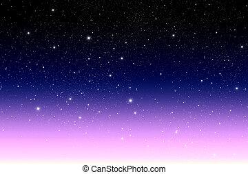 escuro, estrela, galáxia
