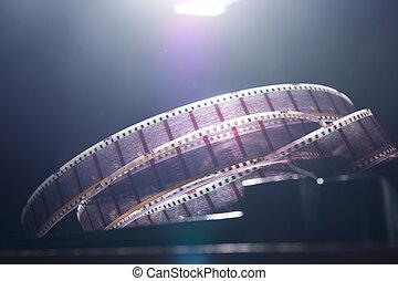 escuro, filme, antigas, película, fundo