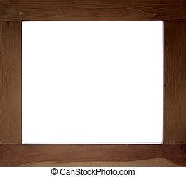 escuro, frame madeira, como, fundo, com, copy-space, dentro