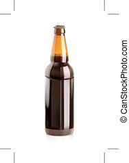 escuro, garrafa, cerveja