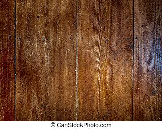 escuro, madeira, parquet