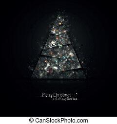 escuro, natal, prata, saudação