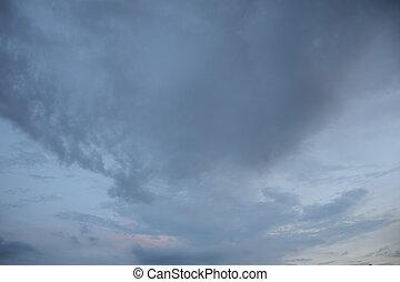 escuro, nublado, nuvens, sky.