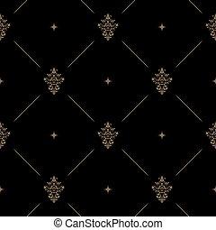 escuro, padrão, decoração, seamless
