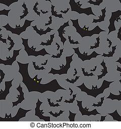 escuro, padrão, morcego, eps10, seamless