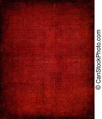 escuro, pano, vermelho