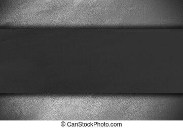 escuro, papel, ligado, um, parede branca