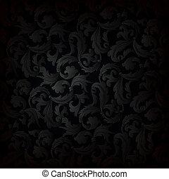 escuro, papel parede, retro, fundo