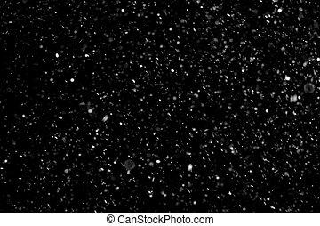 escuro, partículas, abstratos, pó, fundo
