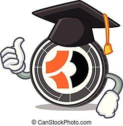 escuro, personagem, bitcoin, graduação, caricatura