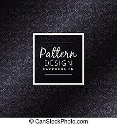 escuro, projeto floral, padrão