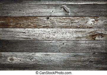 escuro, rústico, celeiro, madeira, fundo