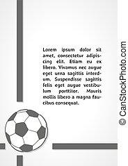 escuro, símbolo, futebol, infographics